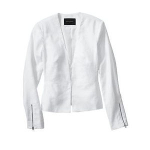 Banana Republic XL 14 White Linen Blazer Jacket